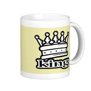 King Crown Royal Royalty Coffee Mugs