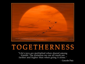 ... Wallpaper on Life: Togetherness Life's joys are multiplied