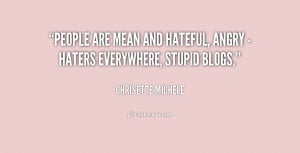 Mean and Hateful People Quotes