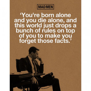 Mad Men Don Draper Quote Poster Print by WoodPanelBasement on Etsy, $ ...