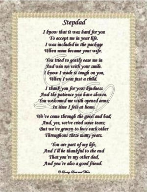 step father poems i love you dad poem personalized step dad poem step ...