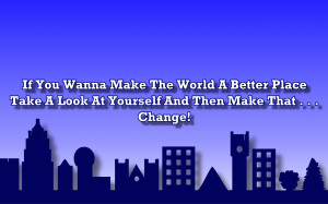 Man In The Mirror - Michael Jackson Song Lyric Quote in Text Image