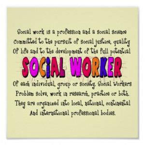 Social Worker Definition Art Poster