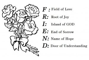 Friend Meaning Coloring Pages Greeting Card