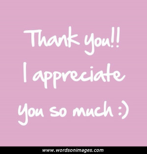 Thank you to all of you quotes
