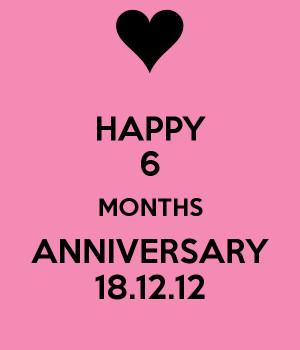 happy 6 months anniversary poem