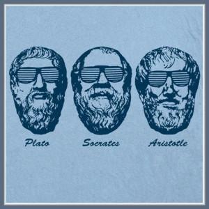 Plato Aristotle T SHIRT Three Philosophers Philosophy Geek Nerd Funny ...