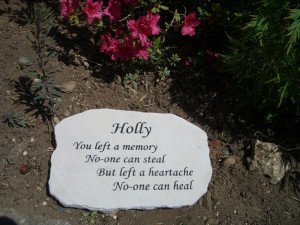 Sandstone pet memorial plaque. I like the way the text is staggered ...