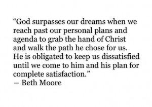 ... my mom always listening to Beth Moore.. And now I can see why