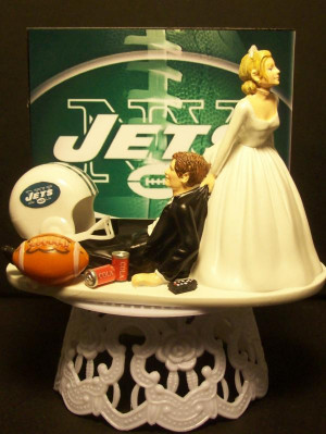 ney york jets football wedding cake topper sports funny grooms cake