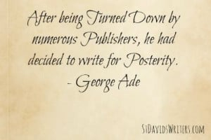 George Ade writing quote