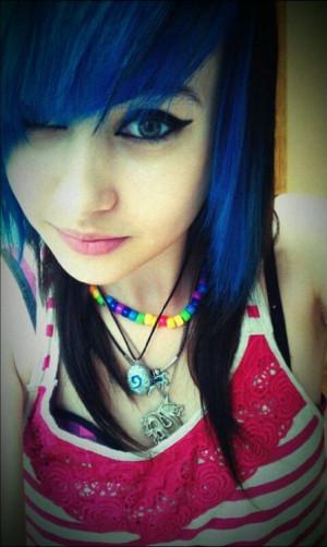 Hair Blue And Black