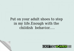 Childish Behavior in Adults