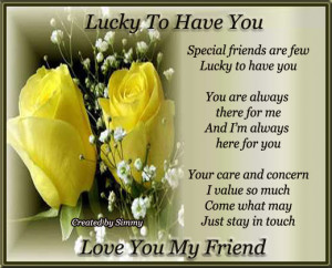 Special message for your special friends, who are integral part of ...