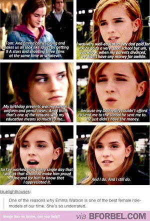 and this is why Emma Watson is my role model I love her