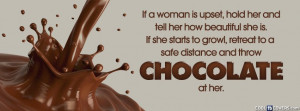 Women And Chocolate Facebook Cover