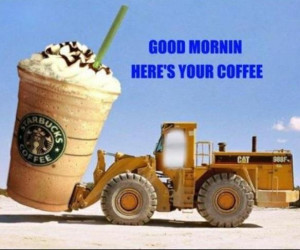 ... coffee to start your #Monday morning? #WheelLoader #Construction