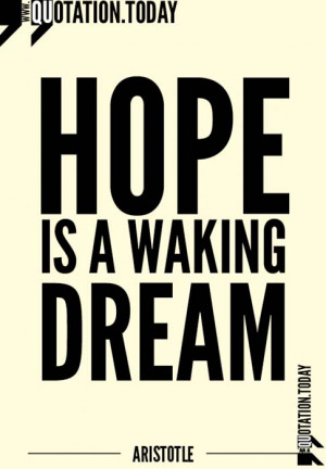 Quotations | Aristotle – Quotes on Hope