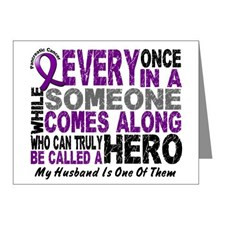 Support Pancreatic Cancer Awareness Month Ribbon Thank You Cards ...