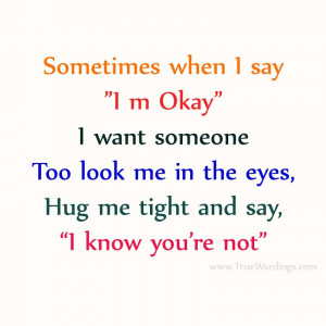 Hug Me Tight – Saying Quote Picture