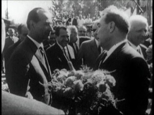 Cierna nad Tisou, Bacio socialista, Alexander Dubcek, Leonid Brezhnev ...