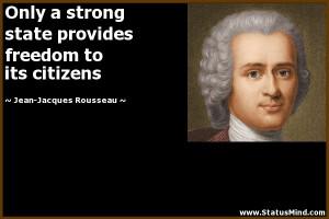 ... to its citizens - Jean-Jacques Rousseau Quotes - StatusMind.com