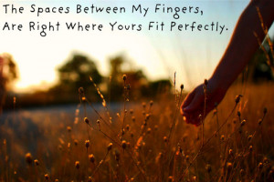 The Spaces Between My Fingers…