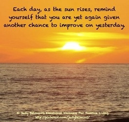 Sunset each new day quote