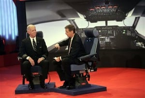 Chesley B. Sullenberger III, left, pilot of US-Airways.
