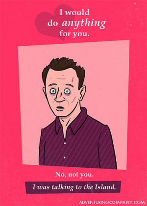 Funny Stuff: Geeky Valentine's Day Cards featuring 'LOST', 'Star Wars ...