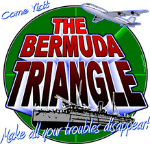 Kaptainmyke Apparel Funny Shirts Bermuda Triangle Shirt