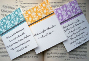Bronte Sisters Literature Quote Note Cards by thesweetunfolding, $13 ...
