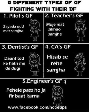 Different types of girlfriends - funny cartoon