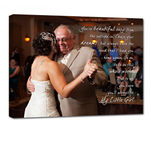 Custom Canvas 12X24 Father Of the Bride Photo Gift