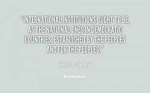 Quotes by Henri La Fontaine
