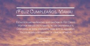 Happy Birthday Mom Quotes In Spanish Happy birthday song in spanish
