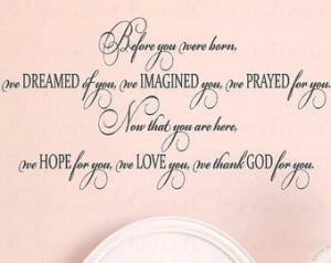 ... Wall Decal - Baby Nursery Girl Boy Poem Quote Saying 22h x 36w BA0301