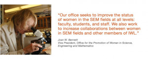 ... for the Promotion of Women in Science, Engineering and Mathematics