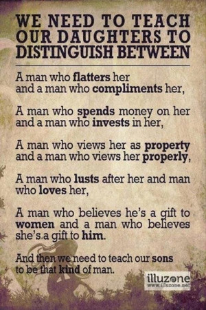 we need to teach our daughters to distinguish between