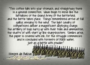coffee quote from Honore de Balzac Best Coffee in Australia -