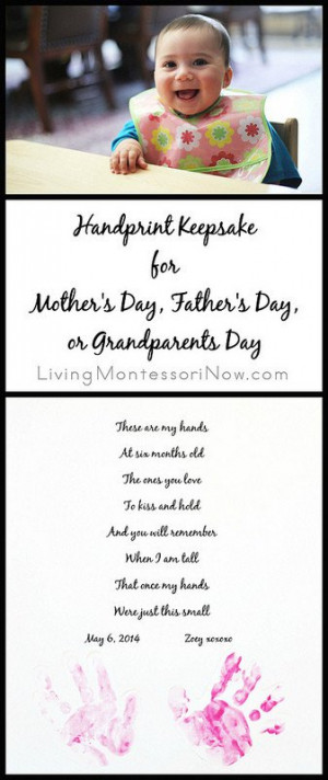 Handprint Keepsake for Mother's Day, Father's Day, or Grandparents ...