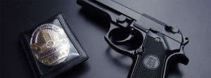 Police Officer Badge And Gun Facebook Cover