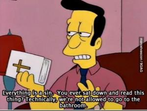 Everything! #Simpsons #atheist meme