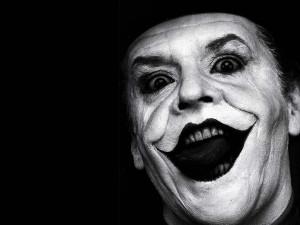 Jack Nicholson Maquillado como el Joker de The Dark Knight