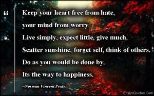 ... good person, advice, positive, inspirational, Norman Vincent Peale