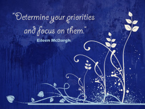 Wallpaper: Quotes-Determine Your Priorities And Focus On Them ...