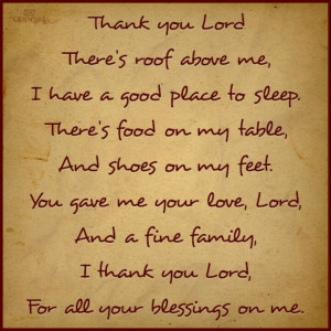 Thankful for my many blessings.