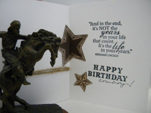 Cowboy Birthday Quote Funny