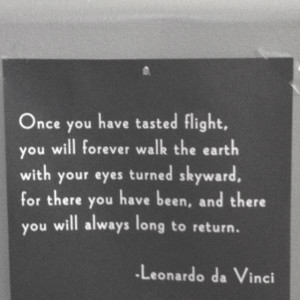 Flight quotes, positive, best, sayings, leonardo da vinci