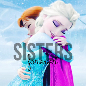 ... tags for this image include: frozen, sisters, elsa, forever and anna
